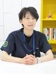 「偏見のないように良識を持つことや感染予防について子どもにしっかり教えてあげて」と説く八木淳子診療科部長