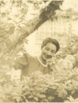 女優の足跡「花のみち」 園井恵子ゆかりの岩手町、駅前に整備