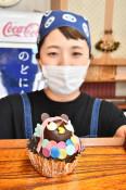 コロナ終息願う「アマビエ」ケーキ 岩泉の老舗菓子店が販売