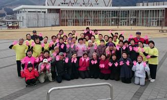 フィットネスレガシー2020で最高賞を受賞した陸前高田市民有志チーム=2月