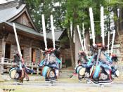 疫病退散願い歌と踊り奉納 花巻・鏑八幡神社