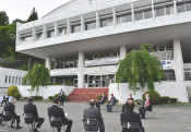 震災拠点に思いはせ 宮古市田老総合事務所が閉所