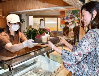 30日に魚河岸テラスにオープンするジェラート店。地域の味を豊富に取りそろえる