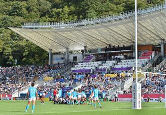 世界屈指のスタジアム20位に選ばれた釜石鵜住居復興スタジアム。昨年9月25日にはラグビーW杯の試合が行われ、熱気に包まれた