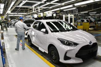 小型車「ヤリス」を生産するトヨタ自動車東日本岩手工場=3月、金ケ崎町