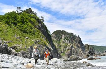 全線開通から1年を迎えた「みちのく潮風トレイル」=8日、岩泉町小本