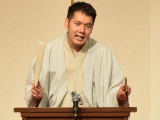 巧みな話芸で会場を笑いに包んだ神田松之丞さん
