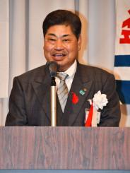 会の発展と地域貢献を誓う沢田政男会長