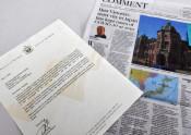 感染ゼロ「盛岡に励まされた」 姉妹都市から手紙、報道の地元紙