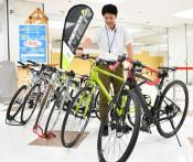 高価な自転車お試しを 北上観光協会、ワンコインでレンタル