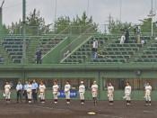 静かな球場、熱戦変わらず 高校野球県代替大会開幕