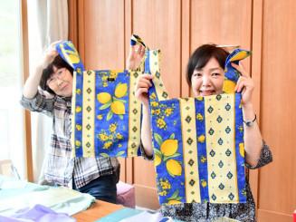 ゆいとり工房が製作販売している布製買い物袋