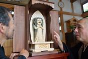 終息願う〝アマビエ菩薩〟 奥州・光明寺が木像設置