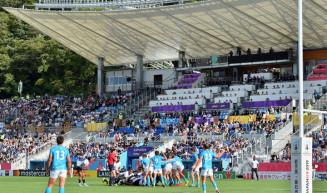 ラグビーW杯で熱戦が繰り広げられた釜石鵜住居復興スタジアム=2019年9月25日