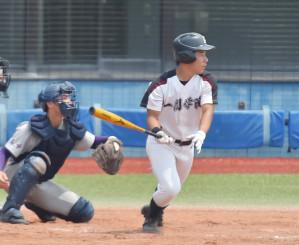 5日、花巻東と練習試合を行った一関学院=宮城県・石巻市民球場