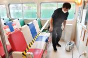 遊覧船 抗菌ばっちり 宮古・浄土ケ浜、客室コロナ対策