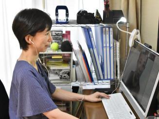 オンライン講座で震災で得た教訓を生かす意義を訴える菊池由貴子さん