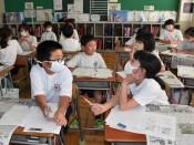 取材方法、児童が学ぶ 盛岡・好摩小、本社社員の出前講座