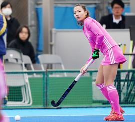 戦列に復帰し、東京五輪出場に向けて再スタートを切った瀬川真帆(ソニー HC BRAVIA Ladies提供)