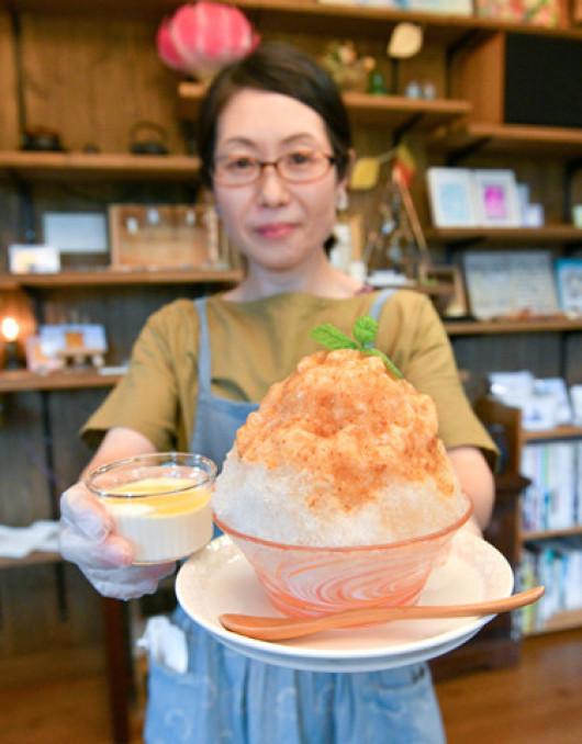 九戸村の特産が詰まった「いわてやまなし氷」