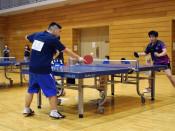 初の卓球県障害者大会 一関で熱戦