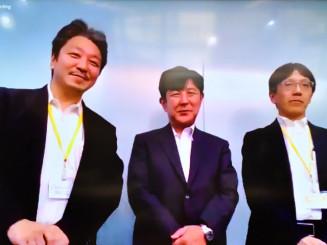 ILCの最新動向について講演した(左から)山下了氏、藤井健氏、森俊則氏