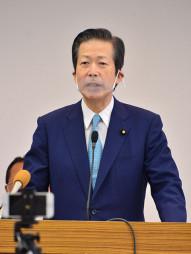 「デジタル化の推進で震災復興も成し遂げられる」と語る山口那津男代表