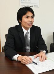 「私を必要とする人と一緒に仕事をしたい」と語る大沢学副社長