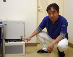 台風19号の被害を教訓に「浸水した高さの分、機器を高いところに設置した」と語る白戸隆洋さん