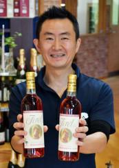 トロフィー賞を受賞した、くずまきワインの「フォーレ・ロゼ」