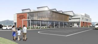 2023年度のオープンを予定する「かるまい交流駅(仮称)」の外観イメージ