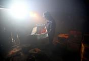煙が育む、赤い実り 釜石で甲子柿作り