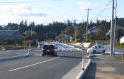 信号機設置の声高く 陸前高田・高田小近くの交差点が全通