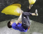 ボルダリング伊藤ふたば3位 スポーツクライミングの特別大会