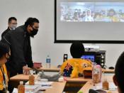 オーストラリアの生徒と友好深め 釜石・中学生、オンライン交流