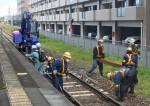 線路工事 夜間→昼間に 山田線、作業環境改善図る