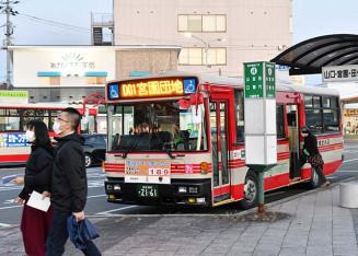 「宮古いきいきパス」が利用可能となる県北バスの車両。地域の足として高齢者らのニーズに応える