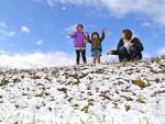 青い空、白い冬 県内各地で雪