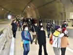 「区界道路」開通前、トンネル見学 県がプレイベント