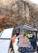 こたつ舟 ぬくもりの旅 一関・猊鼻渓で運航開始