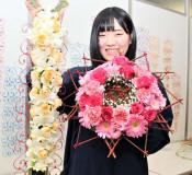 技能五輪 努力花開く 農業大学校小泉さん、フラワー装飾「金」