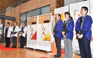 お披露目された東京五輪聖火リレーなどのカウントダウンボード