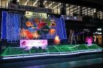 心温か 駅前イルミネーション 盛岡駅「滝の広場」