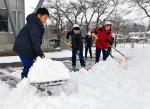 銀世界 汗かき雪かき 県内降雪、16地点で真冬日
