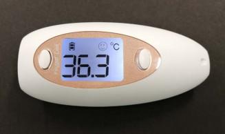 盛岡セイコー工業が製造する非接触式の体温計