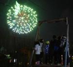思い出贈る冬の大輪 洋野・大野地区、子どもたちへ花火企画
