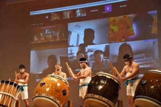 オンラインで気仙町けんか七夕太鼓を披露する保存会