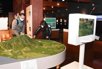 リニューアルされた網張ビジターセンターの展示スペース