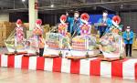 宝船に商売繁盛の願い乗せ 盛岡市中央卸売市場で初競り