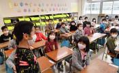 マスク姿で元気に再会 県内小中学校3学期スタート